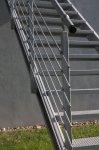 Pozinkovaný stľpik zábradlia 40 x 40 mm