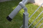 Pozinkované madlo zábradlia - 1 m / pr. 42,4 mm