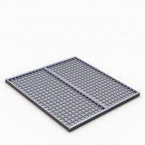 Podestový rošt SQUARE 1000 x 1000 x 40 mm